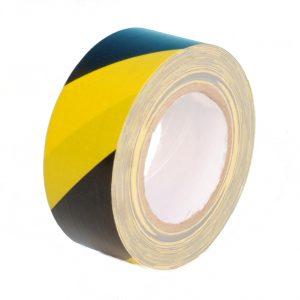 Gewebewarnband 650-50SG Schwarz - Gelb