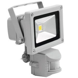 Eurolite LED IP FL-10 COB 6400K Tageslicht, 120° Abstrahlwinkel, 550 Lm, 10w LED, für Innen- und Außen IP44, mit Bewegungsmelder