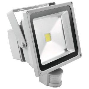 Eurolite LED IP FL-30 COB 6400K Tageslicht, 120° Abstrahlwinkel, 30w LED, für Innen- und Außen IP44, mit Bewegungsmelder