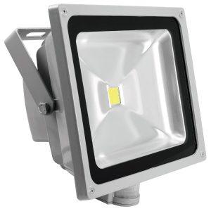 Eurolite LED IP FL-50 COB 3000K Warmweiß, mit Bewegungsmelder