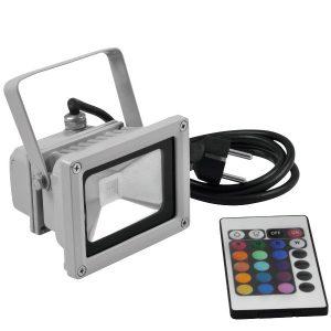 Eurolite LED IP FL-10 COB RGB, mit Fernbedienung