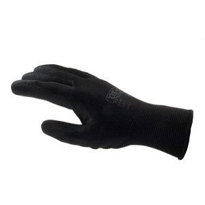 OX-ON Black Flex Nylon Gr. 8 Strickhandschuh mit Nitrilbeschichtung