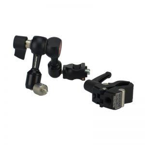 Manfrotto 244 Micro-Kit Friktionsarm mit Verdrehschutz und Nano Clamp
