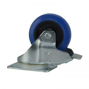 Penn Elcom W0985 Blue Wheel 100mm Lenkrolle mit Totalfeststeller Blau