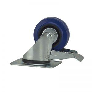 Penn Elcom W0985/80 Blue Wheel 80mm Lenkrolle mit Totalfeststeller Blau